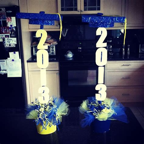 graduation centerpieces party favors ideas
