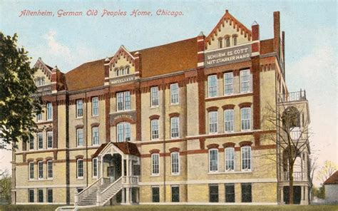 postcard chicago altenheim german peoples home