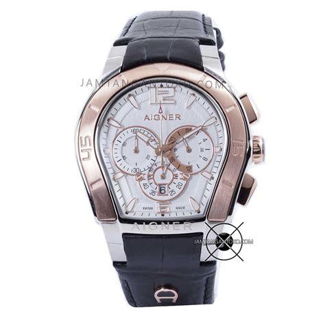 Jam Tangan Aigner Palermo Rantai jam tangan aigner palermo pria hitam plat putih kw