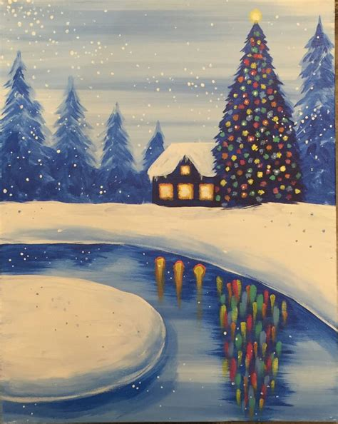 1000 Ideas About Winter Painting On On