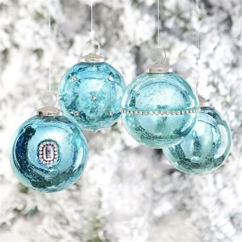 beautiful mercury glass ornaments christmas ornaments