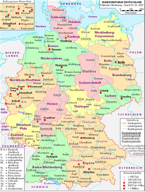 political map germany political map of germany 2007 size