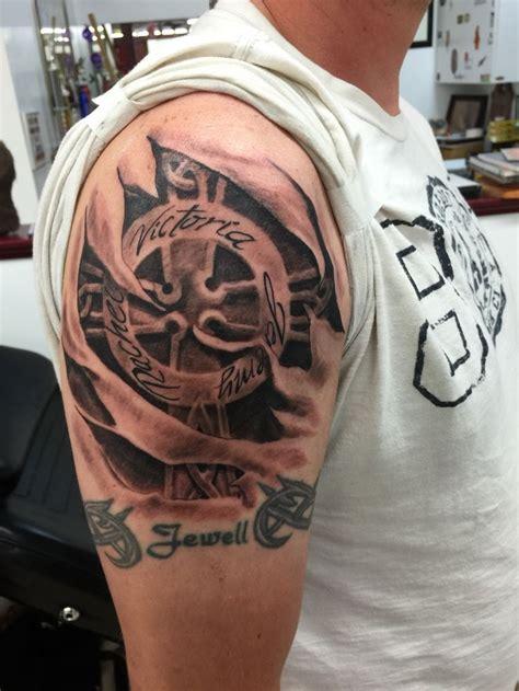 skinhead cross tattoo best 25 torn skin tattoos ideas on