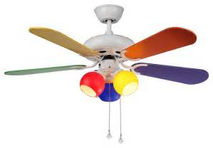 Colored Ceiling Fans Modern Multi Color Ceiling Fan 3 Colorful Lights