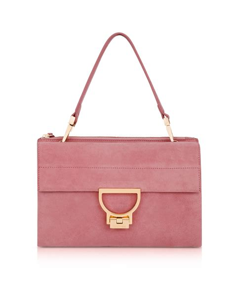 Join The With This Milkshake Shoulder Bag by Coccinelle Milkshake Suede Arlettis Shoulder Bag