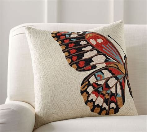 Butterfly Crewel Pillow Cover Pottery Barn Pottery Barn Butterfly Rug