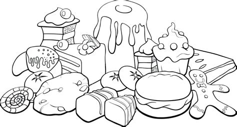 Coloring Page Food by Printable Food Coloring Pages Dr Schulz
