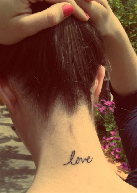 tattoo on neck love 29 cute love neck tattoos