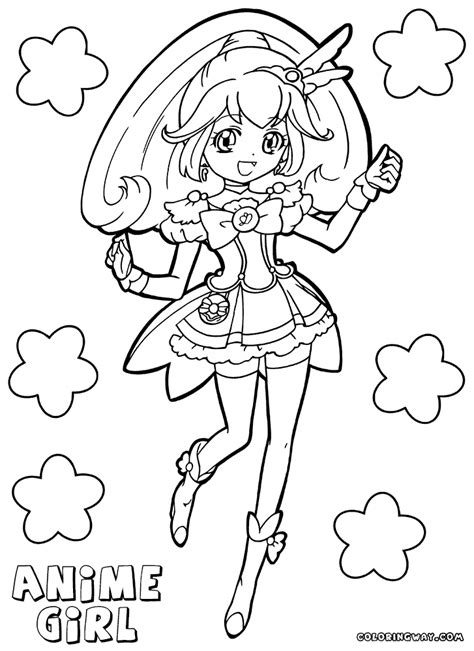 anime neko girl coloring pages pictures to pin on