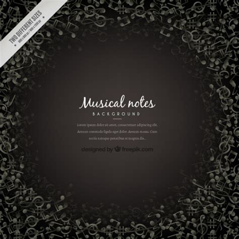 dark color musical notes vector dark musical notes background vector free download