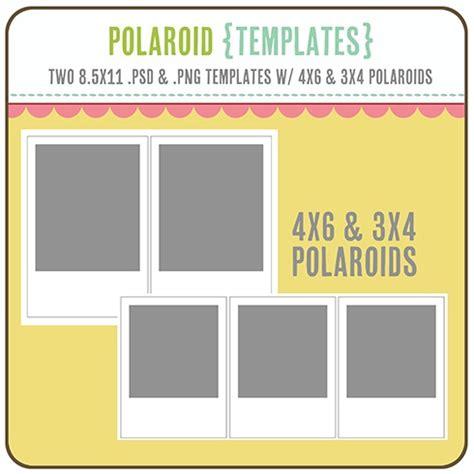 4x6 Polaroid Template Polaroid Templates 3x4 4x6 Scrapbooks Pinterest Photos Polaroid And Make Your