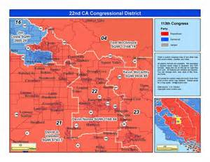 california 52nd congressional district map california 22nd congressional district devin nunes r