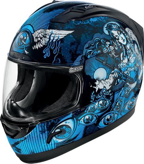 blue motocross helmet icon alliance nikova full face helmet blue