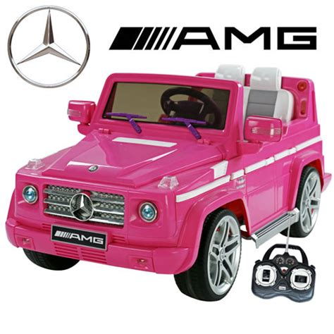 pink kids jeep official 12v cute pink amg mercedes g55 electric jeep 163