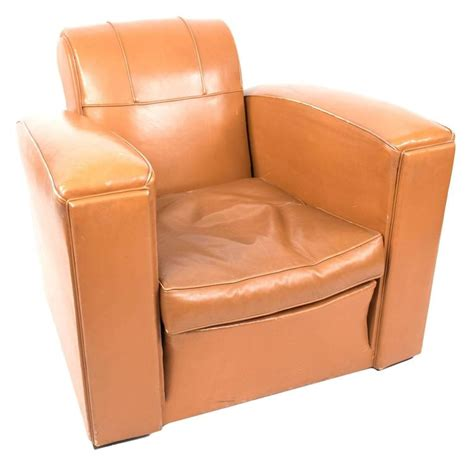 Deco Leather Armchair by Deco Leather Armchairs For Sale At 1stdibs