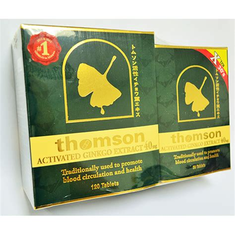 thomson activated ginkgo extract 40mg 120 30 tablets medic drugstore