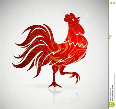 new year 2017 animal element rooster as sign of 2017 by horoscope vector