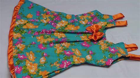 kids summer simple cotton frock  shoulder straps