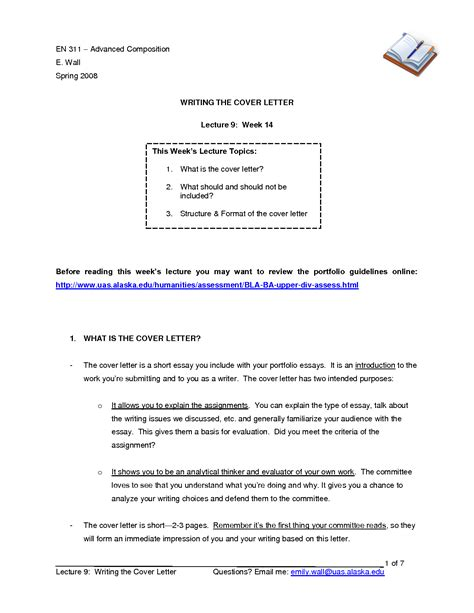 Cover Letter For A Paper by Essay Cover Letter Sles Gse Bookbinder Co