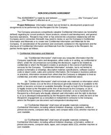 Basic Non Disclosure Agreement Template Non Disclosure Agreement 16 Free Word Pdf Documents