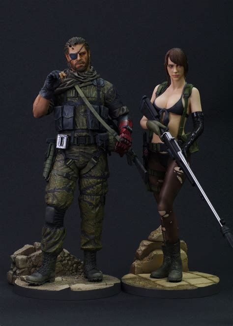 First4figures Mgs Solid Snake Statue Gecco Shows Venom Snake Statue From Metal Gear V