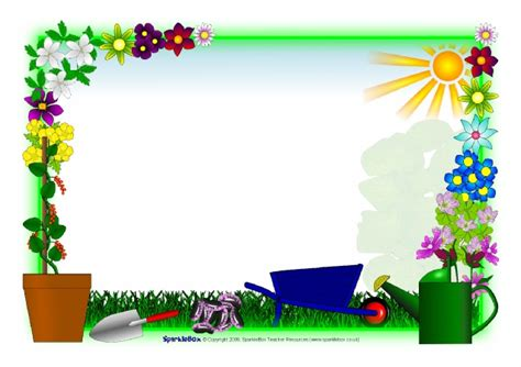 Plant Growing A4 Page Borders (SB2262)   SparkleBox