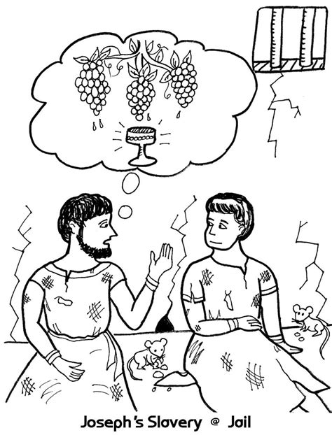 Joseph S Slavery In Jail Coloring Sheet Wesleyan Kids Joseph In Prison Coloring Pages