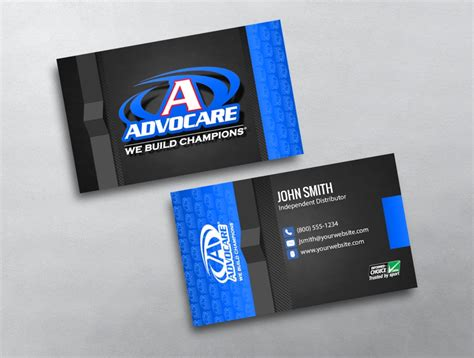 free advocare business card template advocare business card 03