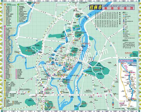 tour map guilin city tour map guilin travel map
