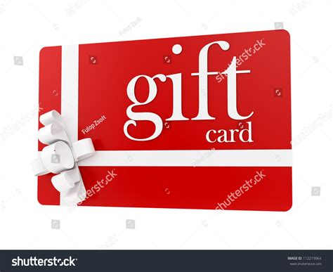 White Gift Card - render of a gift card isolated on white stock photo 112219064 shutterstock