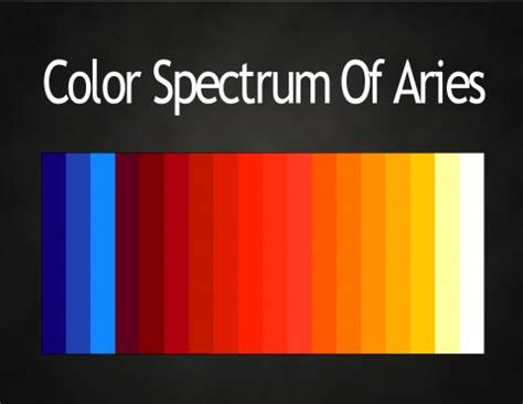 Aries Color | 1000 images about colors answer feeling in man on