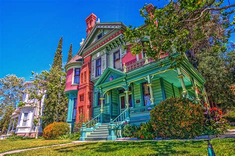 colorful victorian wallpaper colorful house in california 4k ultra hd wallpaper and