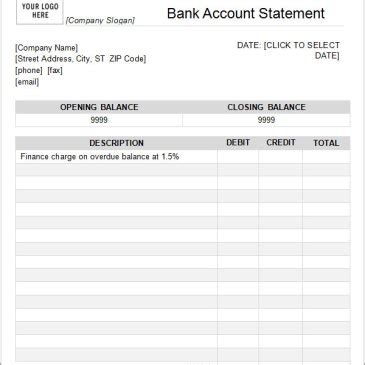 Bank Statement Template Download Free Charlotte Clergy