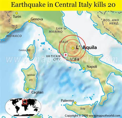 italy earthquake map earthquake in central italy kills 20 world news