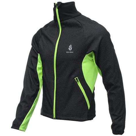 best windproof cycling jacket best price slim design men fleece long sleeve thermal
