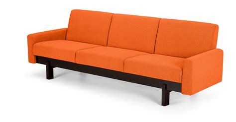 Orange Modern Sofa Modern Orange Sofa Orange Sofa Testimony And Exle Fancy Leather Thesofa