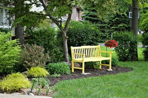 front yard bench a sunny yellow bench for the front yard hometalk
