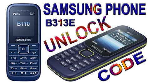 samsung b313e samsung b310e b110e b313e e1200y phone unlock by code