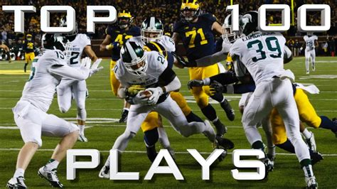 best college football top 100 plays of the 15 16 college football season