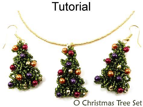 Pattern For Beaded Christmas Earrings | beading tutorial pattern earrings necklace christmas