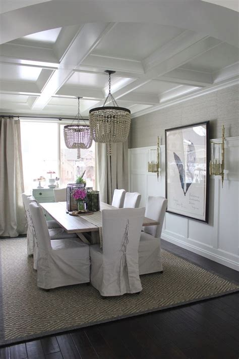 dining room lights ceiling add personality to your interior with a coffered ceiling