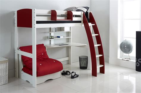 wooden high sleeper with futon high sleeper bed with futon
