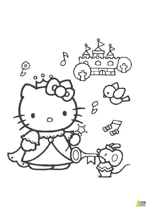 zoomer kitty coloring page coloriage la princesse hello kitty dans la cat 233 gorie