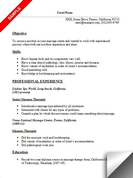 therapy resume objectives therapist resume sle