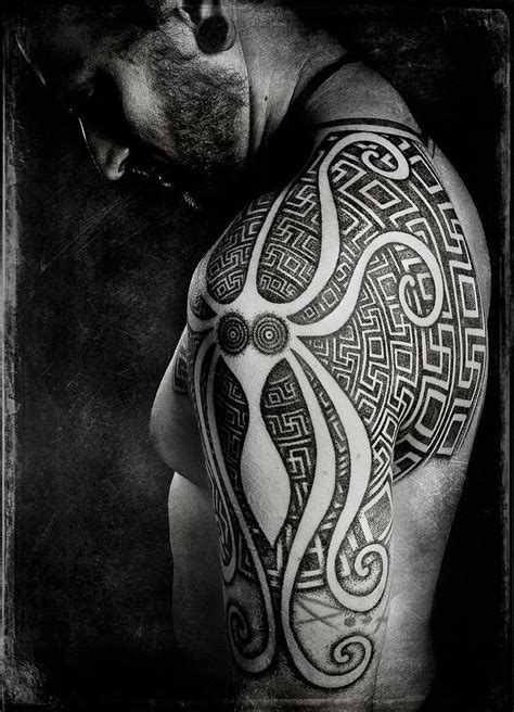 tribal octopus tattoo designs madsen creates an abstract octopus with