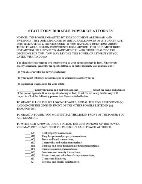 tex document template free power of attorney forms adobe pdf word