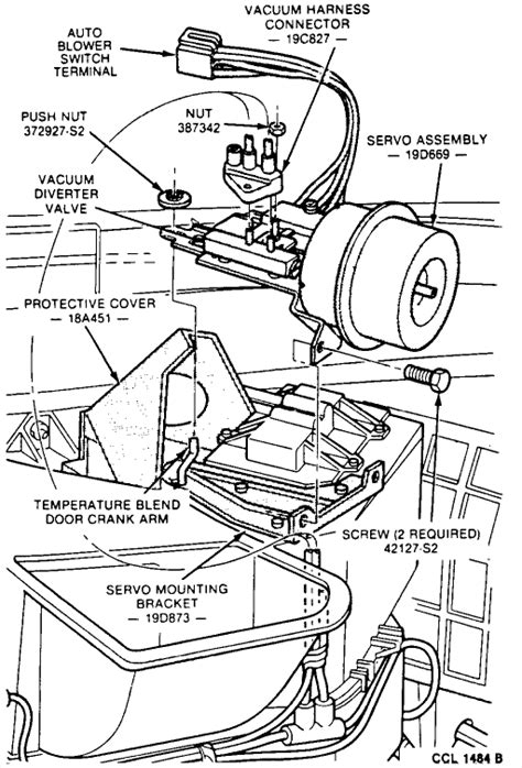 Where is the ac/heater blend door actuator located and how