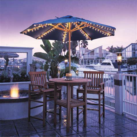 patio umbrellas with lights patio lighting ideas outdoortheme