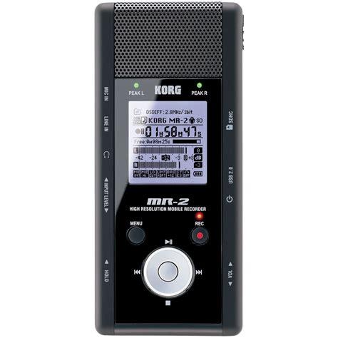 Home Design Software Ratings by Korg Mr 2 1 Bit Hand Held Digital Audio Recorder Mr 2 B Amp H