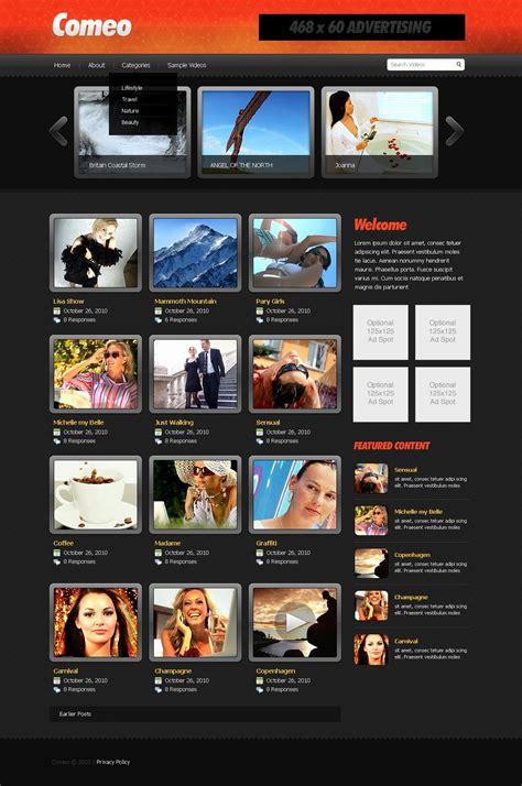 theme creator music player website vorlage 27659 f 252 r videogalerie